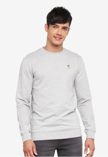 Only & Sons grey Roland Sweatshirt B844BAAF5C7F98GS_1