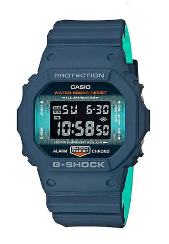 G-Shock blue G-shock Jam Tangan DW-5600CC-2 Blue F7C9EACC93DD04GS_1