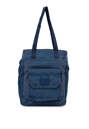 Bagstationz navy SC Nylon Multipurpose Large Tote 78922ACCCB6B0AGS_1