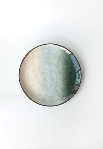 Your Lagom white and green and blue and multi Tie Die Poolside Plate Small 8A22EHLA852E73GS_1