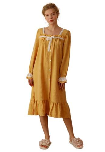 THE LOUNGE EDIT yellow Alnie Sleepwear Dress 553EFAA6DEAA01GS_1