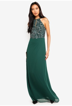 25f68c50a1cf 15% OFF Lace   Beads Basia Maxi Dress With Embellished Top HK  1