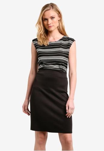 ZALORA black Essential Striped Bodycon Dress DA62BZZBAEF4F8GS_1
