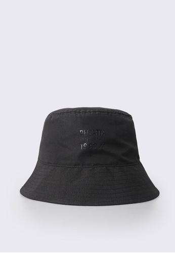REGATTA black Bucket Hat With Detachable Adjuster 53D96ACD6B9D54GS_1
