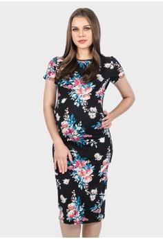 1e6e5a36f98 9months Maternity black Black Perfect Fit Midi Maternity Dress  39F08AA415196AGS 1