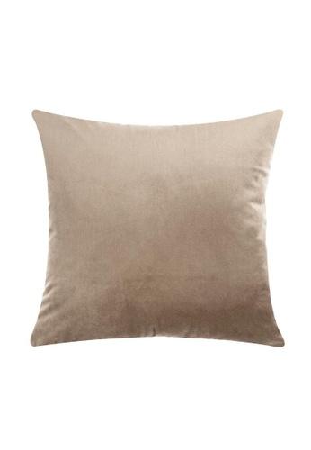 DILAS HOME Basic Velvet Cushion Cover (Champagne) CC4C4HLC2B0E41GS_1