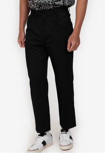 ZALORA BASICS black Extended Band Trousers 9B247AAFA6DC34GS_1