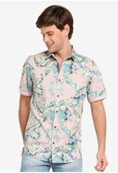 565d5bc2 Only & Sons purple and multi Lamar Feather Print Button Down Shirt  D3FF4AADA354FFGS_1