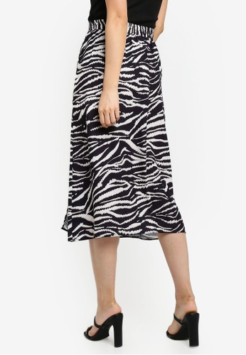 28de9c18a8 Shop Wallis Black Zebra Print Midi Skirt Online on ZALORA Philippines