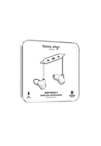 happy plugs white and gold Happy Plugs Ear Piece II Wireless - White/Gold B0B04ACA2220CCGS_1