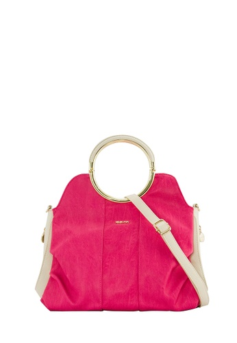 SEMBONIA pink SEMBONIA Synthetic Leather Satchel Bag (Pink) SE598AC0SBC6MY_1