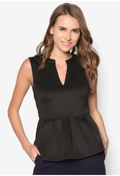 Collection Pleated Peplum Top