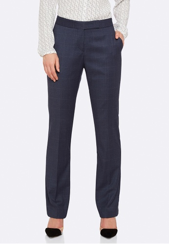 Oxford blue Danica Check Suit Trousers 22B6DAAD8CDFF7GS_1