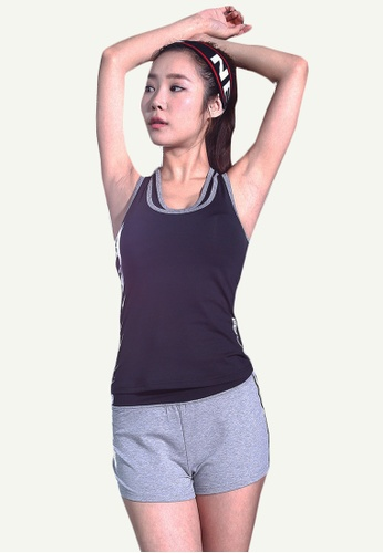 B-Code grey ZYG5010F-Lady Quick Drying Running Fitness Yoga Sports Shorts-Grey 9DC47AA87B156EGS_1