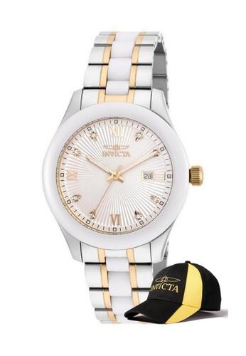 INVICTA gold Invicta Specialty Men 42mm Case Steel, Stainless Steel, Ceramic Strap Dial Quartz Watch 18156 with  Cap 681D2AC675CB84GS_1
