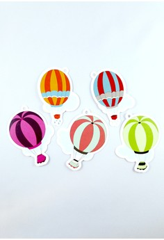 Hot Air Balloons Die Cut Gift Tags