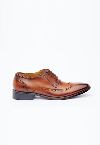 Kings Collection brown Magli Leather Shoes B0834SH1E4F1D6GS_1