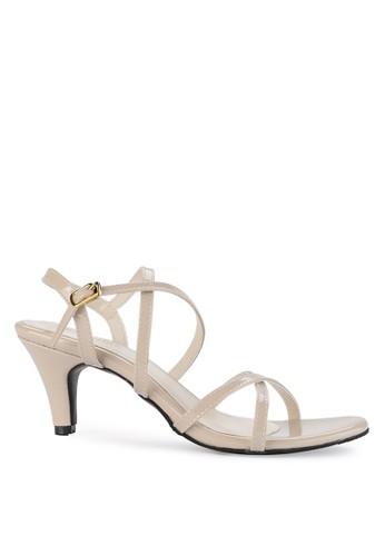 7a80c6420f5 Shoecrime beige Mia Strappy Heels 3778DSH5731840GS 1