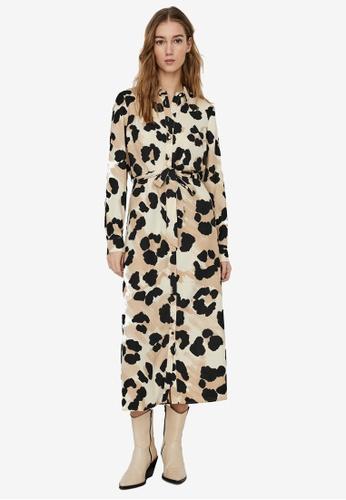 Vero Moda beige Greeta Shirt Dress 67D34AA9C39D22GS_1