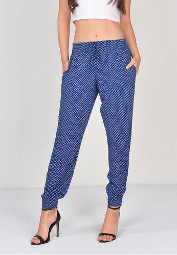 SJO & SIMPAPLY SJO's Gesper Rayon Navy Print Women's Pants