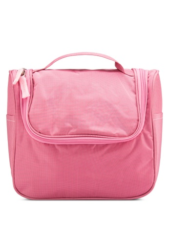 Bagstationz pink Bagstationz Lightweight Water Resistant Travel Organizer and Toiletries Pouch BA607AC13UJQMY_1