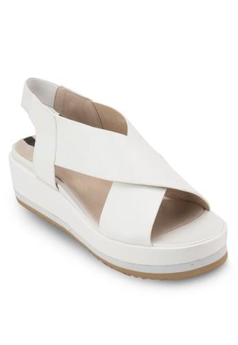 交叉繞踝楔形涼鞋, 女鞋,zalora 手錶 評價 鞋