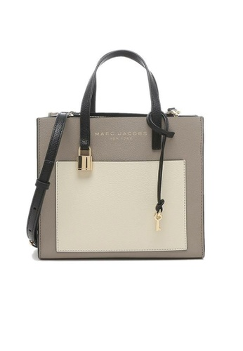 MARC JACOBS grey and white and multi Marc Jacobs Mini Grind Satchel Tote Bag M0016132 Loam Soil Multi C6B82ACACF7B3CGS_1