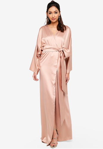Alia B. brown Selene Sateen Robe 6B678AAF8181CFGS_1