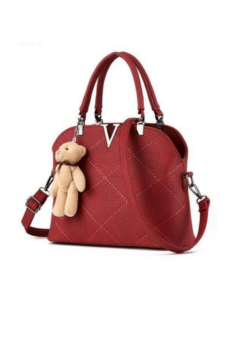 KL16038 Stitch Leather Handbag Shoulder bag
