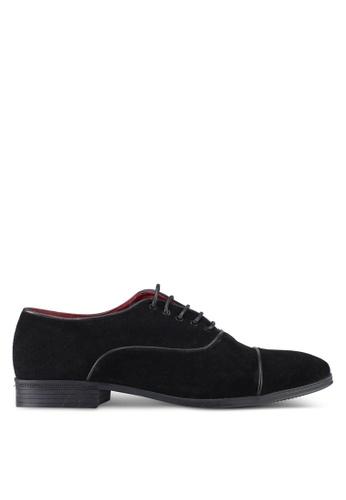 ACUTO black Leather Shoes AC283SH0SL64MY_1