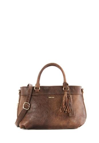 SEMBONIA brown SEMBONIA Synthetic Leather Satchel Bag (Dark Brown) D15BAAC6759683GS_1
