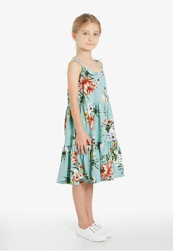 Gen Woo blue Printed Summer A-Line Dress By Gen Woo 2804FKABF69CB9GS_1