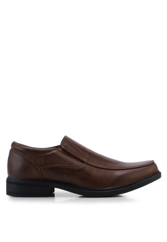 Bata brown Slip On Dress Shoes 49881SHA4587C2GS_1