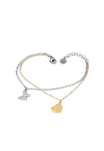 Morellato silver Insieme Bracelet SAHM08 Stainless Steel PVD Gold Crystals 47C6AACF9F3E14GS_1