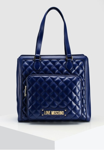 fd072807ac Shop Love Moschino Quilted Tote Bag Online on ZALORA Philippines