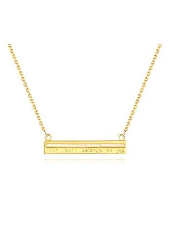 SUNRAIS gold Premium colored stone gold simple design necklace 19B05AC6E10707GS_1