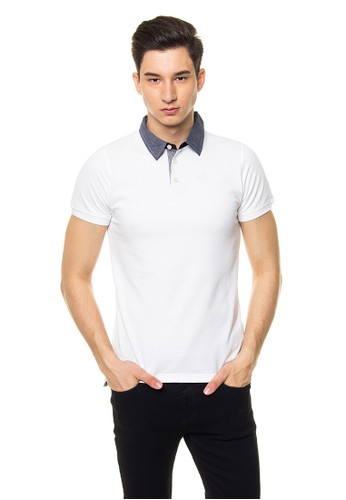 WHITE ARDEN POLO SHIRT