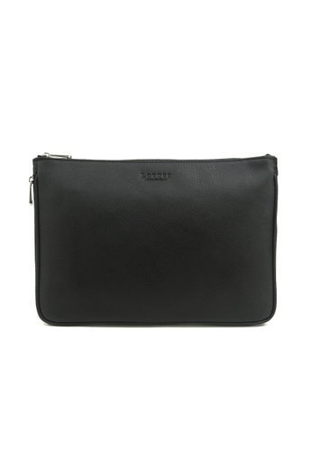 Kawamura black Lotuff Genuine Leather Clutch & Cross - Black KA871AC20GGLHK_1