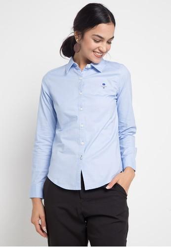 Giordano blue Women's Classic Shirt 59E01AA6EE706DGS_1