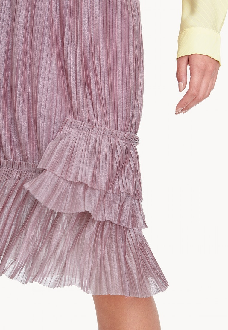Pink Pink Skirt Pomelo Elastic Midi Pleated Waist wqqaFB