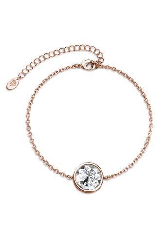 Her Jewellery gold Juliet Bracelet (Rose Gold, Small)-  Made with premium grade crystals from Austria B18CDAC9C073E4GS_1