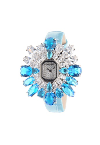 Crisathena 藍色 Crisathena女裝SNOW石英錶(藍色) 92D27AC9C86558GS_1