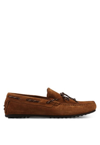 Selected Homme brown Sergio Suede Moccasins 26D15SH1D062E6GS_1