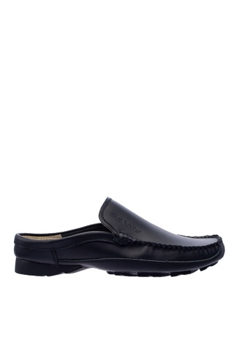 Hush Puppies black Hush Puppies Men's Eugene 2 Slip On Loafer Mule - Black BBEE8SHE798079GS_1