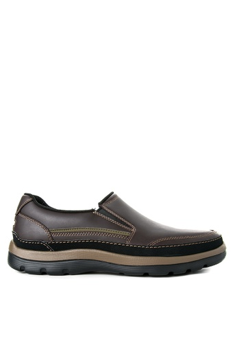 Rockport brown Get Your Kicks Gore Slip On Shoes RO474SH89KACPH_1
