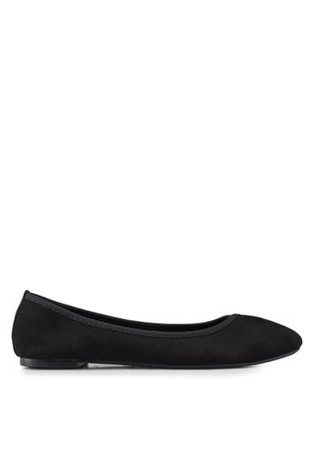 Dorothy Perkins 黑色 麂皮平底鞋 9650ASH6A81568GS_1