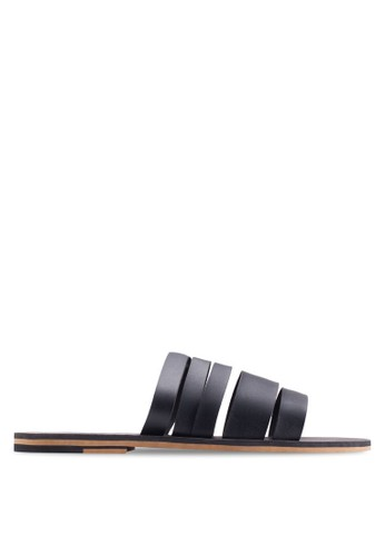 Multi - Strap Leather Sandals