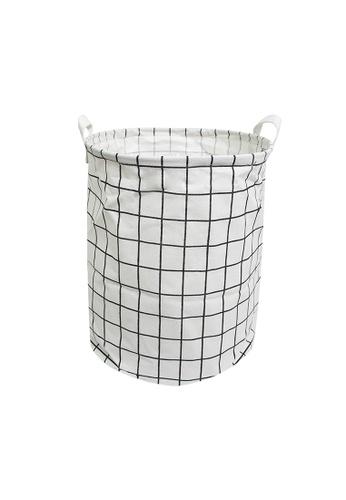 HOUZE HOUZE - Laundry Bag (Small) - White Checkers 4FA4AHLB8FA450GS_1