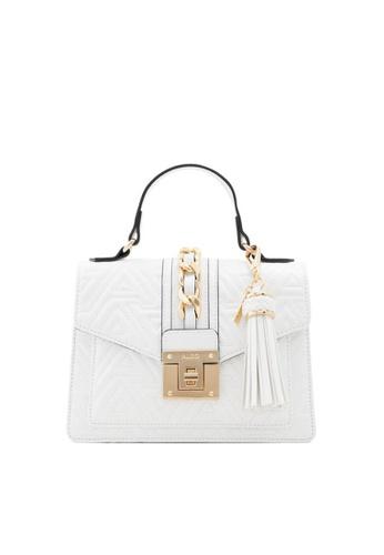 ALDO white Martis Top-Handle Bag 0C81AACA1DF3A5GS_1