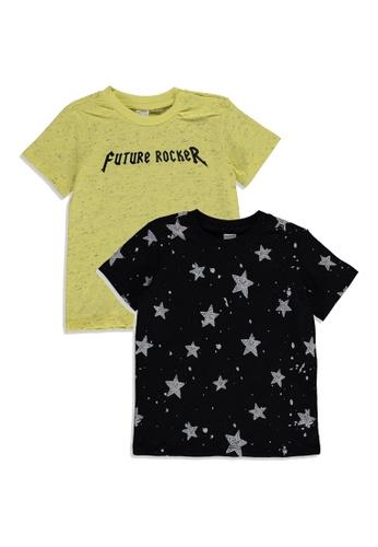 LC WAIKIKI yellow 2-pack Baby Boy's Printed T-Shirt 13C35KAD63C27CGS_1
